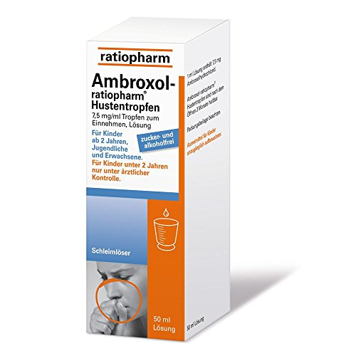 Ambroxol-ratiopharm Hustentropfen, 50 ml Lösung