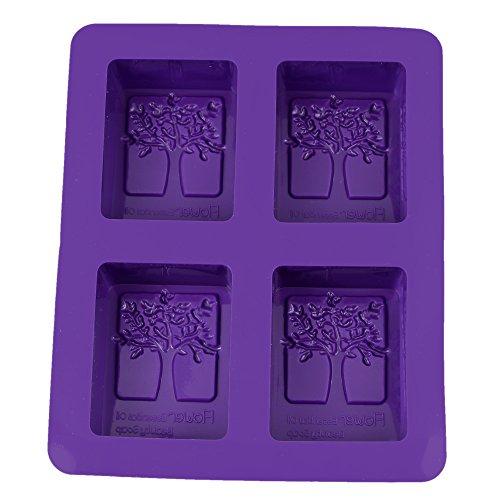 YOKIRIN® Stampo in Silicone Formi di 4pcs Albero Accessorio per Fimo silicone Handmade Soaps Stampi Sapone