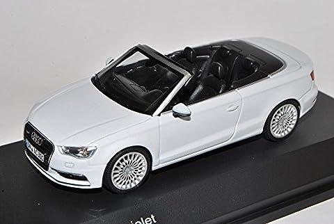 Audi A3 8V Cabrio Gletscher Weiss Ab 2013 1/43 Herpa Modell Auto mit individiuellem