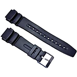 18mm Black Replacement Watch Band Fits AW-506, AW-61, DW-280, DW-290, DW-290B