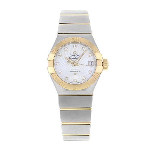 OMEGA WOMEN'S CONSTELLATION 27MM TWO TONE AUTOMATIC WATCH 123.20.27.20.55.002