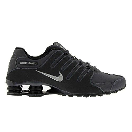 Nike Mens Shox NZ Dark Grey Leather Trainers 44 EU