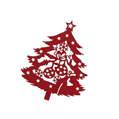 50pz segnabicchiere albero di natela carte marchio tavolo bicchiere di vino partito decorazione - rosso