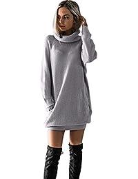 Longra Caliente Mujeres de Manga Larga de Punto Jersey Suéter Suelto Jumper  Tops de Punto - d863251b780b