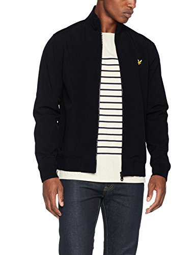 Lyle & Scott Herren Jacke Zip Through Funnel Neck Soft Shell, Black (True Black), XX-Large (Funnel Schwarz Mantel Neck)