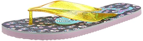 Irregular Choice Betty Flip, Sandales Plateforme Femme Multicolour (Gold/Black)