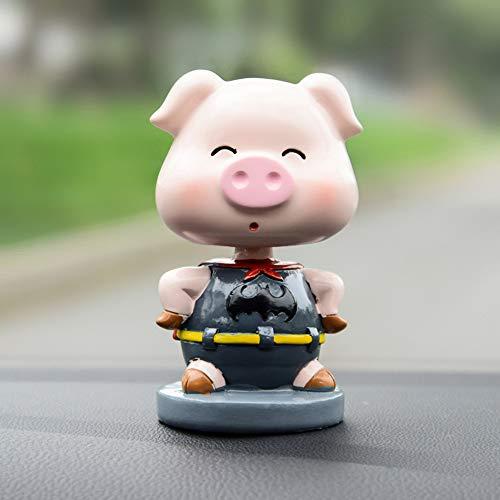 kgftdk Cruscotto dell'automobile Decorazione Decorazione Auto Super Batman Maiale Mano Artigianato modalità Cartoon Resina Scuotere La Testa Bambola Giocattolo Auto Dashboard Ornamento Regali di Mo