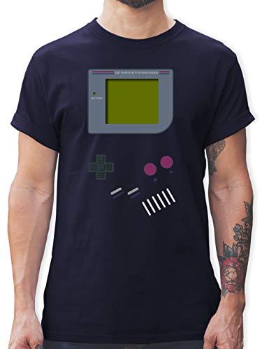 Nerds & Geeks - Gameboy - M - Navy Blau - L190 - Herren T-Shirt und Männer Tshirt