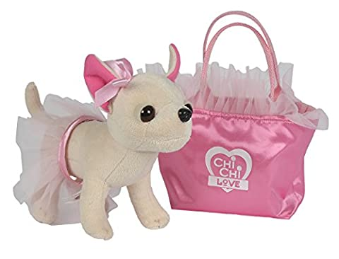Simba 105897401 - Chi Chi Love Plüschhund Ballerina 20cm (Simba Chi Chi)