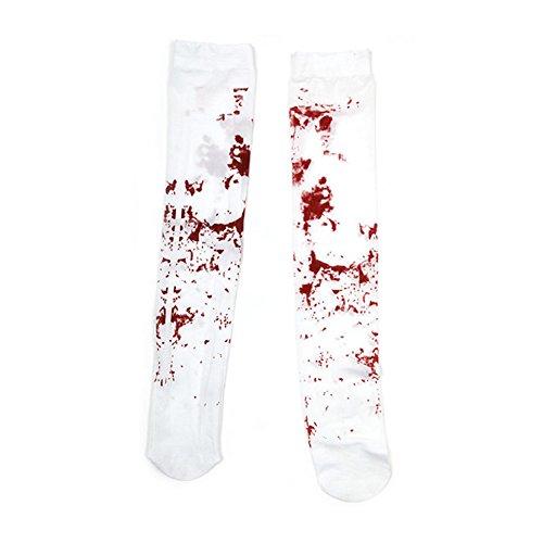 Zombie Kostüme Accessoires - SpringPear Blutige Strümpfe Halloween Befleckt
