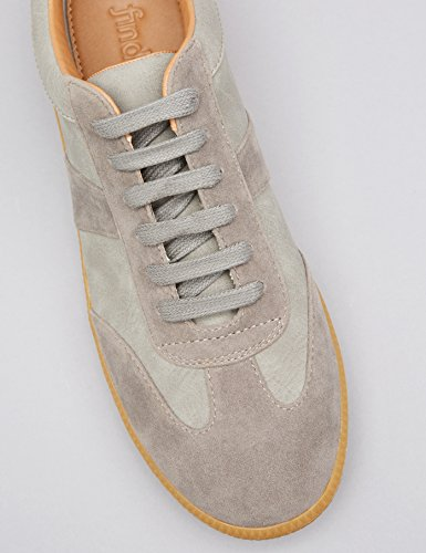 FIND Baskets Basses en Cuir Suédé Homme Gris (Grey)