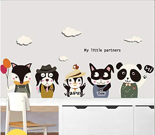 Yirenfeng Tierhandlung Wand Cartoon Aufkleber Schlafzimmer Selbst Wand Aufkleber Handgemalte Katze Tier Aufkleber, E