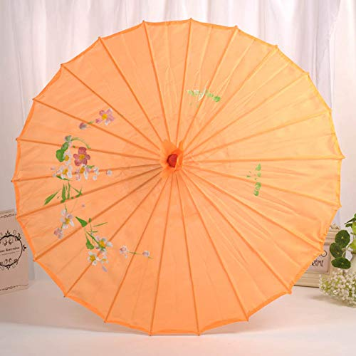 kangOnline Brautschirm mit Holzgriff und Blumen-Dekoration, Hochzeitskleid, Fotografie,...