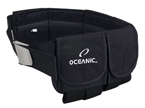 Oceanic Taschenbleigurt mit Edelstahlschnalle, 4 Größen (M - 5 Taschen)