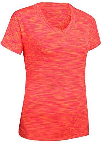 Sodhue Damen Funktionsshirt Stretch Laufshirt Schnell Trocknendes Sportshirt mit Kurzen Ärmeln und V-Ausschnitt Leichtes Kompression Shirt Trainingsshirt Atmungsaktiv Base Layer für Yoga Fitness -
