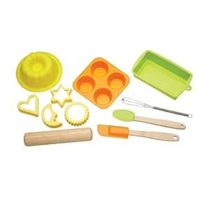 Kitchen Craft Let's Make Kit pâtisserie pour enfants Silicone 11 pièces