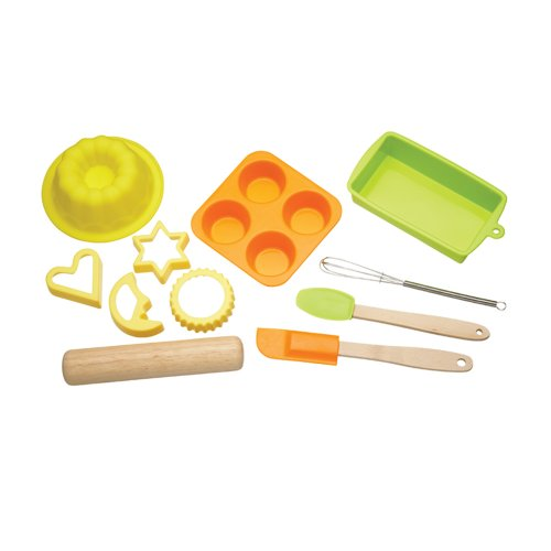 KitchenCraft Let's Make Children's 11-Piece Silicone Bakeware Set