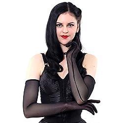 What Katie Did largos guantes manejando negro