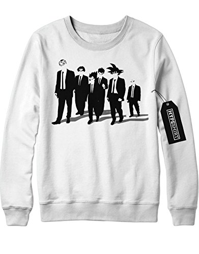 Sweatshirt Son Goku Vegeta Reservoir Dogs Mash Up Dragon Ball C980025 Weiß (Kostüm Vegeta Majin)