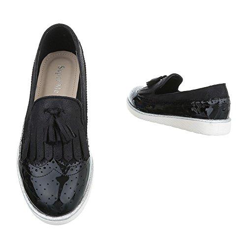 Pantofola Slitta Ital-design Scarpa Moderna Scarpa Bassa Nera G01