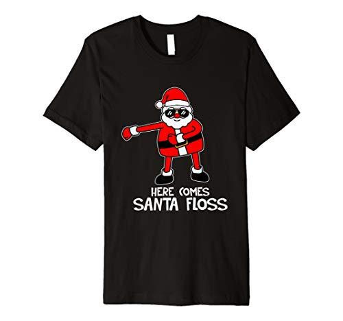 Kommt hier Sankt-Floss-Ren-Weihnachtsbaum-T-Shirt