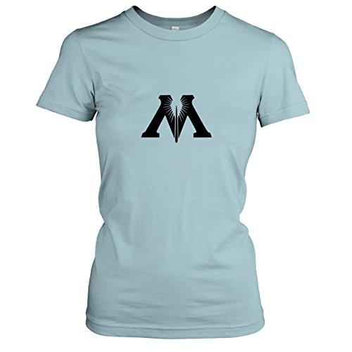 TEXLAB - Zauberministerium - Damen T-Shirt, Größe XL, hellblau