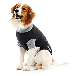 Kruuse Buster Padded Protective Dog Bodysuit (XX-Large) (Black/Grey)