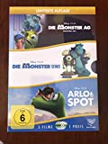Disney 3er-DVD-Box Die Monster AG + Die Monster Uni + Arlo & Spot