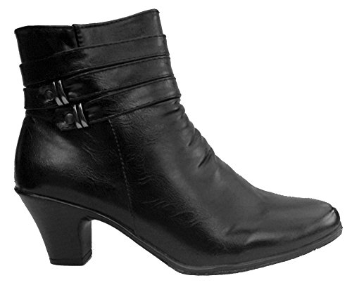 Cushion Walk Womens Side Zip Fashion Boots - Black - Denise (6...