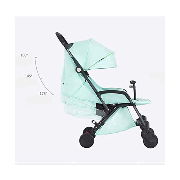 LAZ Baby Stroller, Light Folding Shock Absorber Portable Stroller City High Vision Stroller LAZ Suitable for baby strollers from birth to 25 kg, each stroller is pressure tested to ensure the safety of each baby. The silver look is very elegant and luxurious; Shockproof design, front wheel springs absorb vibrations that protect the baby's brain and body. Adjustable backrest and handle adjust the back of the stroller to meet the different requirements of the baby lying, sitting or sleeping. Comfortable seats with 5-point seat belts and tilted adjustable sleep pads allow you to sleep comfortably at night. Eco-friendly organic cotton has anti-allergic, anti-static, antibacterial and other characteristics, not easy to tear or puncture. As a result, baby newborns sleep well in strollers. Lightweight anti-rust aluminum alloy baby car frame durable, smooth touch. 4