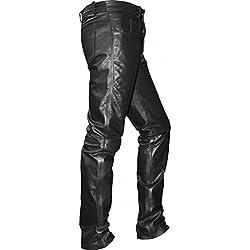 German Wear piel Pantalón, negro