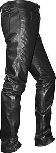 German Wear Jeans Pantalones de Piel de Búfalo, Negro, 54
