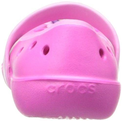 Crocs Keeley Flower Flat G New Charm, Ballerine, Unisex - bambino Rosa (Neon Magenta/Carnation)