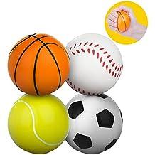Pelota antiestrés, Meersee Juego de 4 Bola Estrujable de juguete para Alivio de Estrés,