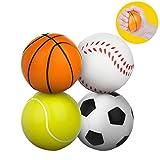 Pelota antiestrés, Meersee Juego de 4 Bola Estrujable de juguete para Alivio de Estrés, ADHD & Autismo