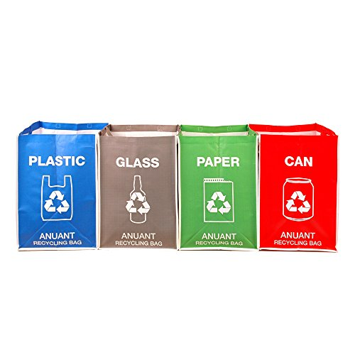 Separate Recycling Waste Bin Bags for Kitchen Office