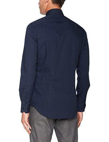 Tommy Hilfiger Tailored Herren Businesshemd Core Stretch Poplin Slim Shirt Blau (429 429)