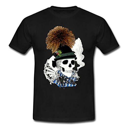 Bayern Wiesn Skull Männer T-Shirt von Spreadshirt®, XL, Schwarz