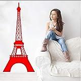 Cmdyz Eiffelturm Wandtattoo Vinyl Kunst Aufkleber Paris Französisch Reise Schlafzimmer Wohnzimmer DekorationWohnaccessoiresTapete42 * 92 Cm