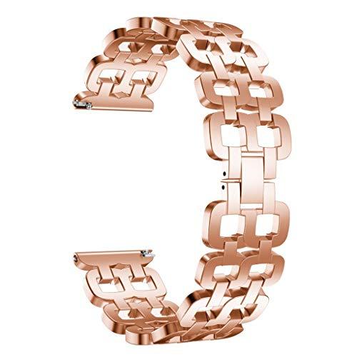 Bearbelly Ersatzband für Huawei Uhr GT Luxus Edelstahl Band Schnellverschluss Armband Armband Elegante lässige Sportband Armband für Huawei Uhr GT Ersatzband Handschlaufe