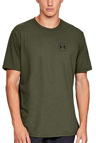 Under Armour Herren Freedom Isn't Free T-Shirt kurzärmelig, Marine Od Green (390)/Black, Medium -