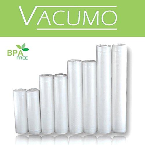 SPARPACK 8 x Vakuumrolle Vakuumschlauch Vakuumbeutel in 4 Größen 15 20 25 30 x 600 cm goffriert für alle Vakuumierer LAVA SOLIS GASTROBACK CASO ALLPAX und andere