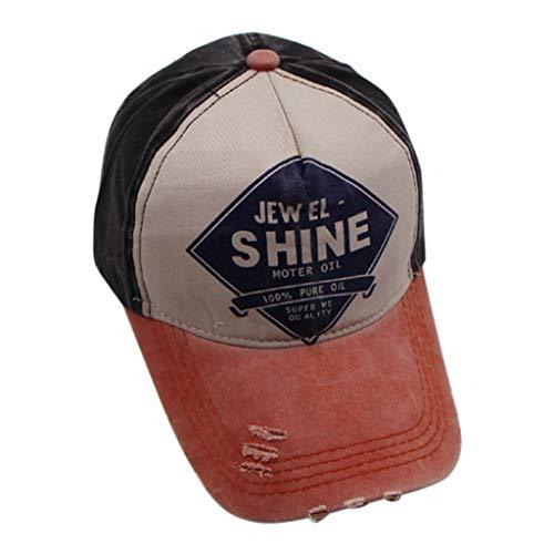 Vintage Fitted Cap (WHSHINE Unisex Mesh Baseballcap, Vintage Brief Stickerei Used Look Retro Sommer Kappe Mütze Cap Schirmmütze Baseballmütze Sonnenhut)