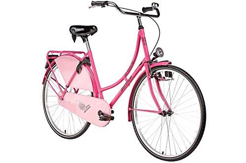 Hollandrad 28'' Bermuda Valencia in pink Stadtrad Damen Holland Fahrrad Citybike Beleuchtung Gepäckträger Rücktrittbremse
