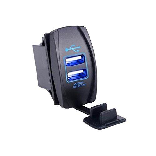 Homyl Auto Dual USB Buchse Ladegerät Für Alle Smartphones Und Elektronischen Geräten - Blau - 12v Usb-ladebuchse