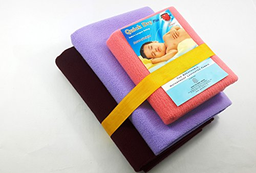 Vadmans Quick Dry Plus Reusable Mat/Sheet With Anti Microbial Treatment, Combo Pack With 2 Large 1 Small Size Absolutely Free