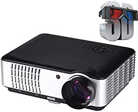 Play 5000 Lumens Android Full HD Smart WI-FI, HDMI, USB Portable 1920 x 1080P Home Theater 3D Led Projector(Black)