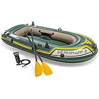 Intex - Barca hinchable Seahawk 2 & remos - 236 x 114 x 41 cm (68347) (modelo variable según imagen)