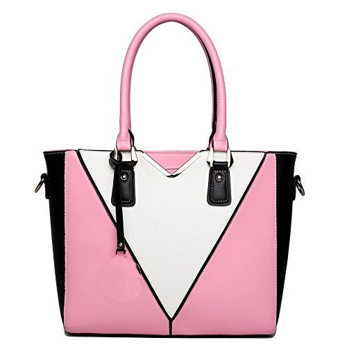 Plover Donna pelle sintetica borsetta Borse a tracolla Borse Messenger Borse cross-body pink