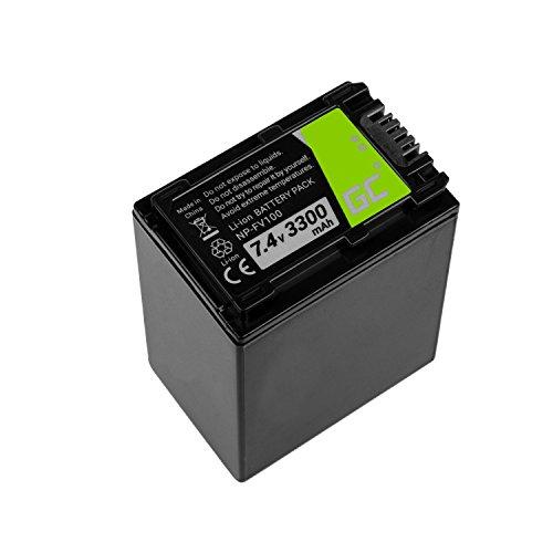 Green Cell NP-FV70A Kamera-Akku für Sony, Full Decoded (Li-Ion Zellen 3300mAh 7.4V Schwarz)